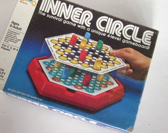 Vintage Collectible INNER CIRCLE The  Game, Milton Bradley Co -1981. 4 Level Board Game-Complete good condition-Collectible
