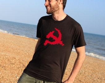 Hammer and Sickle Splash graphic communist Tshirt