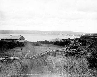 Old Mission Buildings on Madeline Island 1898 Historical Photo Reproduction 8x10 Wisconsin