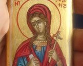 saint Susanna.miniature StSusanna. hand painted.byzantine icon.catholick icon.Saint Susanna.st Susanna