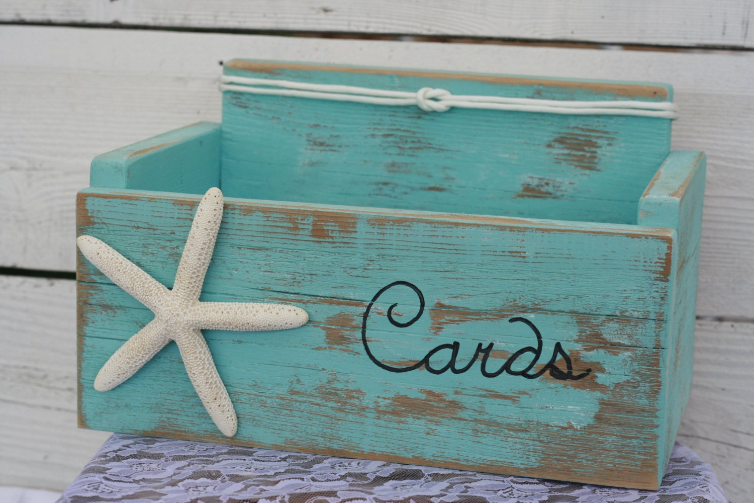 Nautical Wedding Gift Card Holder : Request a custom order and have something made just for you.