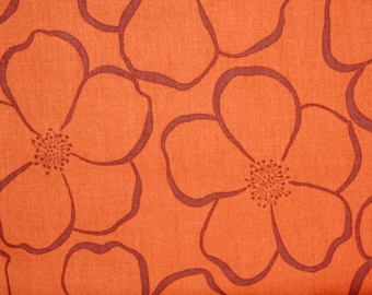 Valorie Wells fabric Roses VW08 BROWN floral Sewing Quilting  cotton fabric by the yard 100% cotton Free Spirit fabric