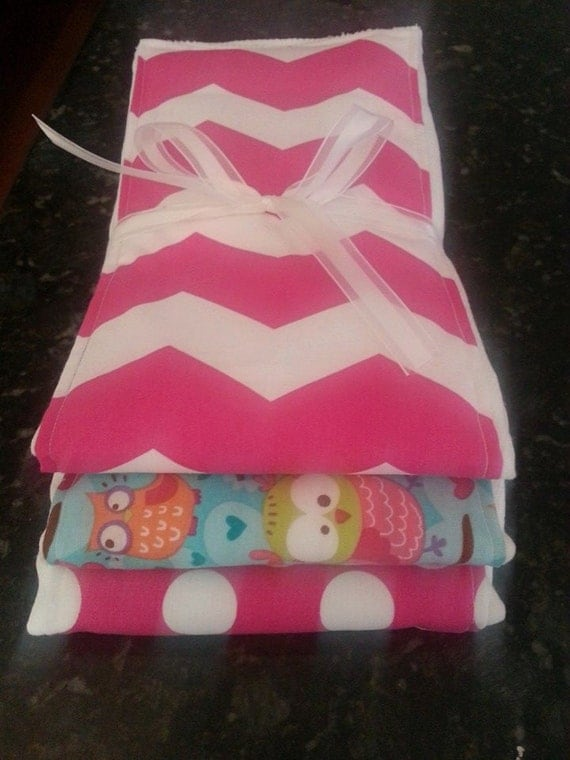 Custom Burp Cloths Baby Girl Personalized Perfect