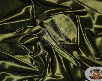 """Taffeta Solid Fabric OLIVE / 58"""" Wide / Sold by the yard"""