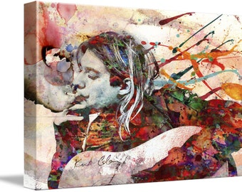 Kurt Cobain Canvas Art, Nirvana Original Painting Canvas Art Print