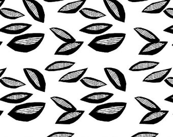 Fat Quarter Sylvia - Hulta in White - Vibrant Cotton Quilt Fabric - Lotta Jansdotter for Windham Fabrics (W1368)