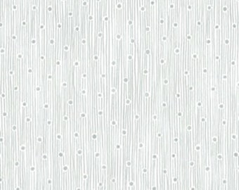 One Yard This 'N That - Dew Drops in Silver - Cotton Quilt Fabric - Designed by Nancy Halvorsen for Benartex (W1678)
