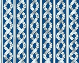 Half Yard True Blue - Seersucker Twist in Navy - Cotton Quilt Fabric - Nautical Fabric designed by Ana Davis for Blend Fabrics (W1852)