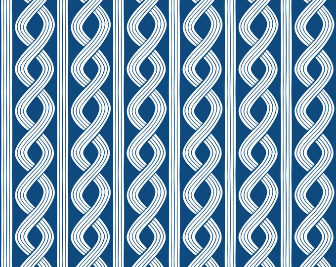 Half Yard True Blue - Seersucker Twist in Navy - Cotton Quilt Fabric - Nautical Fabric designed by Ana Davis for Blend Fabrics (W1852)