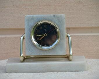 RARE Clock from Soviet Union white clock marble clock  Russian design anniversary gift luxury clock exclusive clock unique home decor