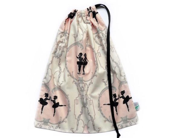 Dance Bag. Ballet Bag Featuring Ballerinas. Dance Bag for Ballet Slippers & Leotards. Makes a Lovely Ballet Recital Gift. Personalize it!