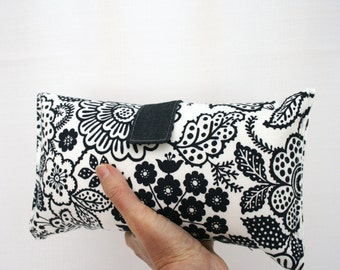 Nappy Wallet - Navy and White Floral