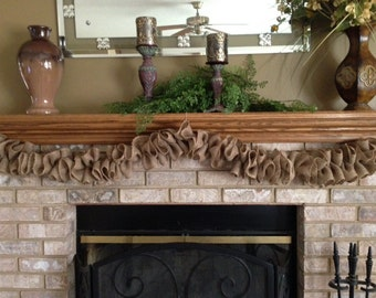 BURLAP GARLAND,Christmas Burlap Garland,  Wedding Burlap Garland, Fireplace Garland