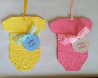 BABY SHOWER Favor Tags - Baby Girl Favor Tags Set of 12