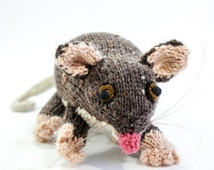 Hand Knitted Animal Toy, Australian Ringtail Possum, Wildlife Toy, Soft Toy, Knitted Softie