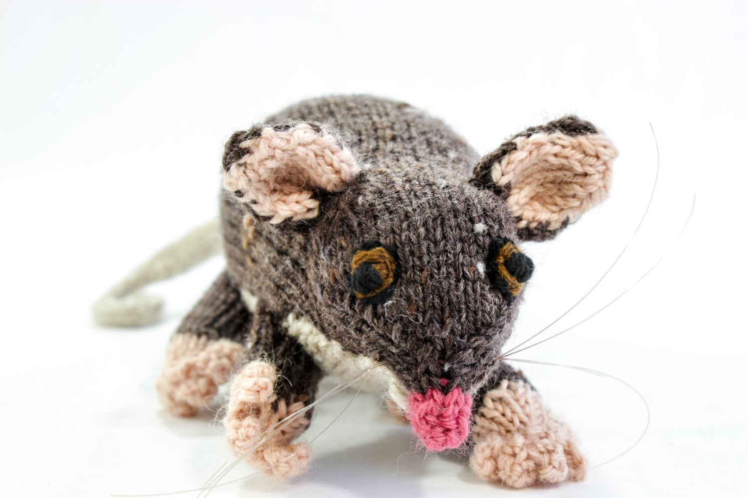 Hand Knitted Animal Toy Australian Ringtail by heaventoseven