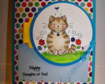 Cat Greeting Card...