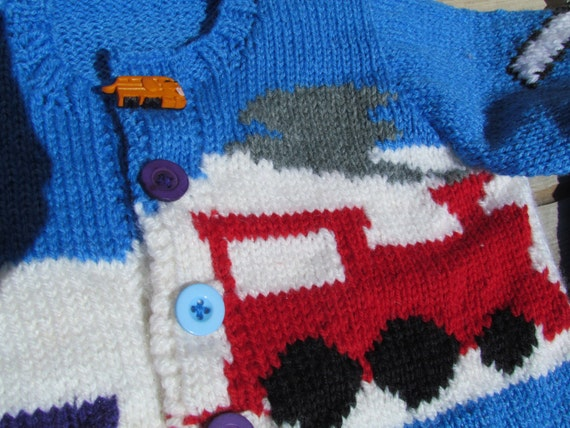 Train Knitting Pattern : Items similar to Knitting Pattern: Childs Train Sweater on Etsy