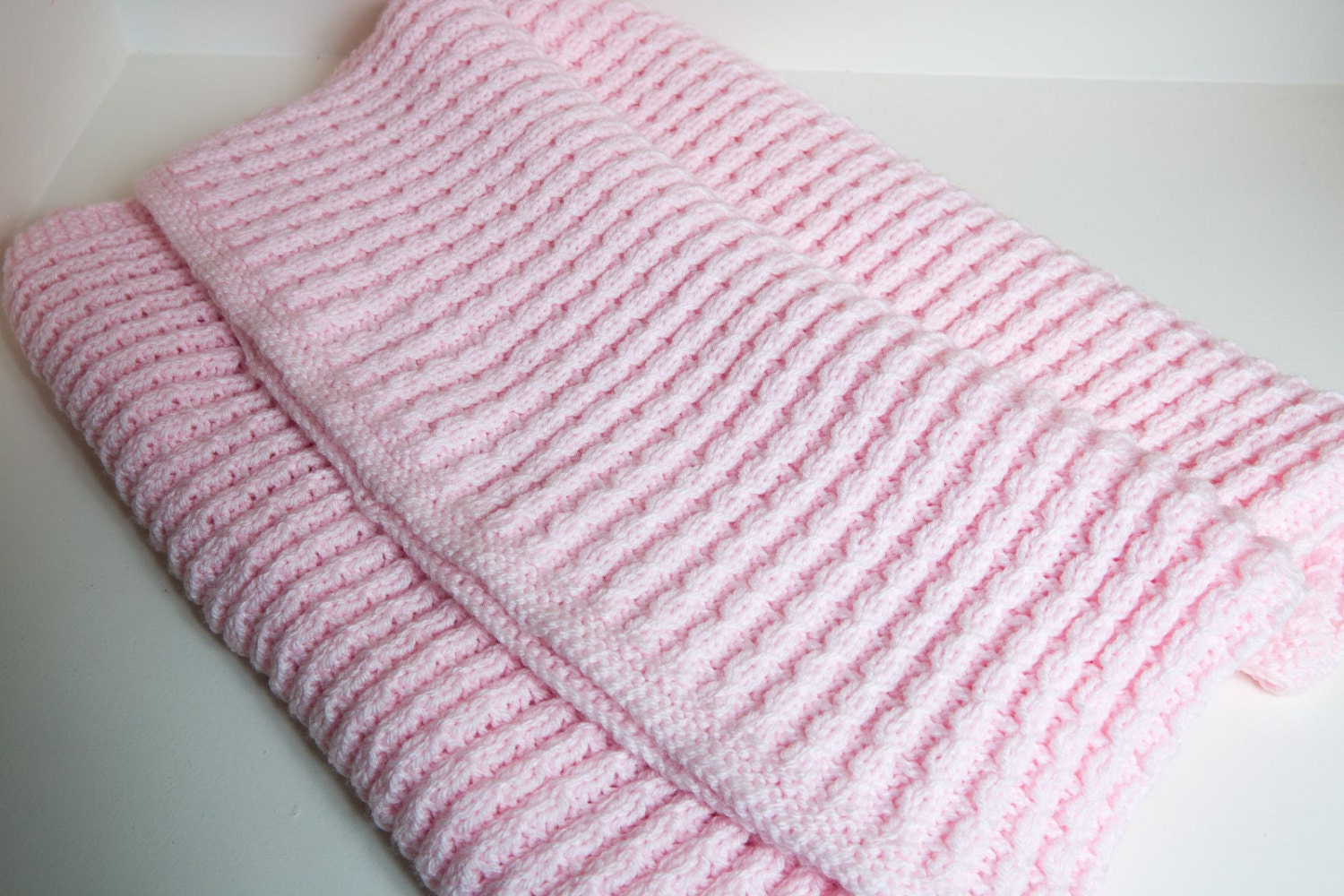 Baby Girl Blanket Knitting Patterns : Baby Girl Cable Knit Blanket by GreyKittenDesigns on Etsy