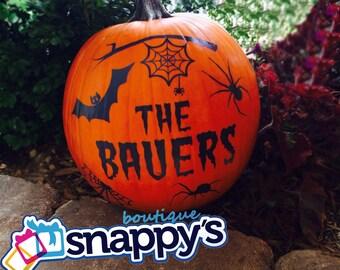 Personalized Halloween Pumpkin Decals - Custom Pumpkin Decals