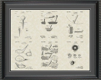 Golf Patent Collection Golfer Coach Gift PGOLF2024
