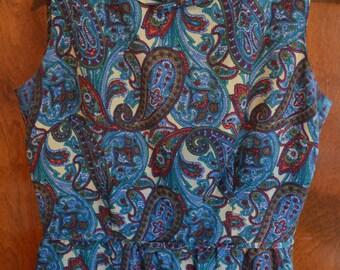 Peck & Peck Paisley Wool Lined  Dress Size 10-12