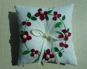 Ring bearer Pillow Custom Made White Cotton
