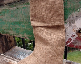 "Burlap Stocking 10""W x 16""H (4 stockings)"