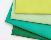 4psc/set 1/16 yard Spring green color 30's plain cotton fabric C37849