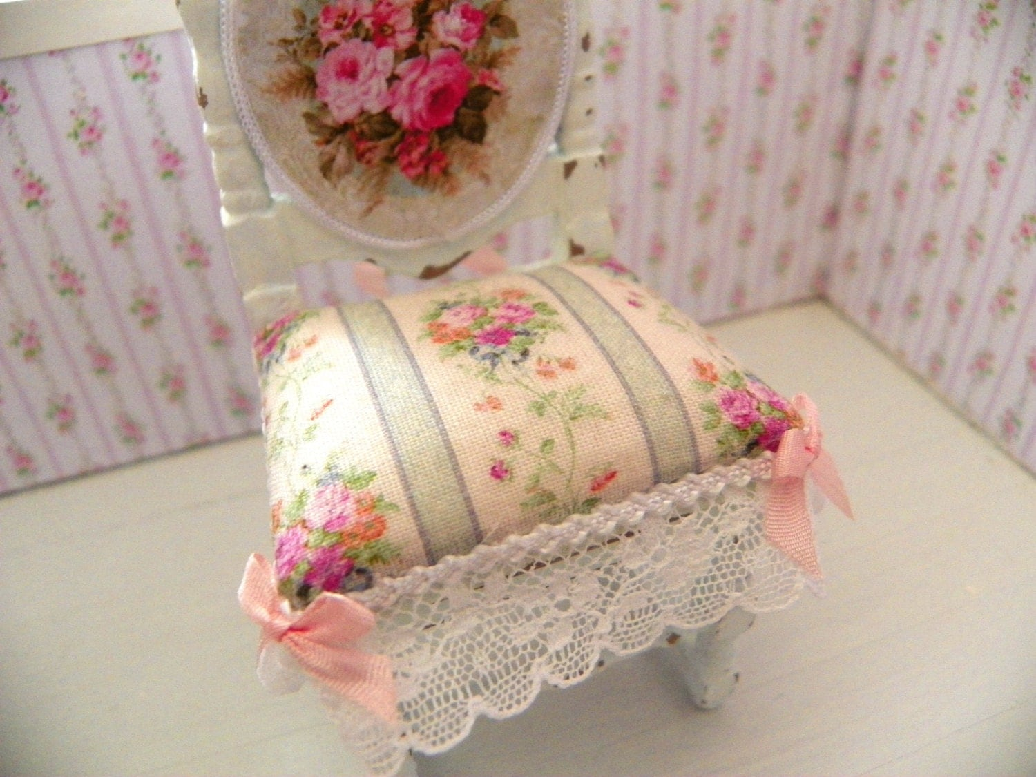 dollhouse furniture shabby chic french chair