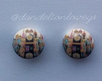 Small World fabric earrings