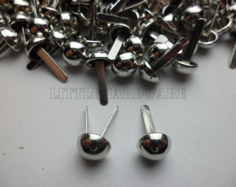 100Pcs Diameter 8mm silver color brads,wholesale brads  Cs0012