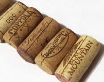 100 wine cork place card holders, vineyard wedding, wedding favors, upcycled cork.