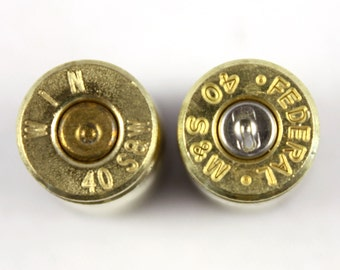 10x Brass .40 Bullet Shell Casings - Will Drill If Requested or Remove Primer - M061