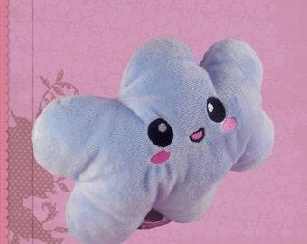 Cloud plushie cuddly soft plush kawaii soft toy light blue