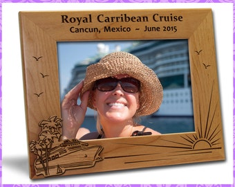 4x6 Personalized Custom Engraved Cruise Vacation Picture Frame