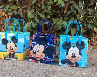 12 Mickey Mouse  -Birthday Party Favor Bags