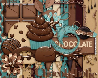 Chocola-holic Digital Mini Scrap Kit