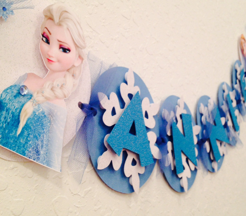 Frozen Banner Frozen Name Banner