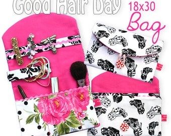 "Good Hair Day Bag ITH 7x11"" - Machine Embroidery Design"