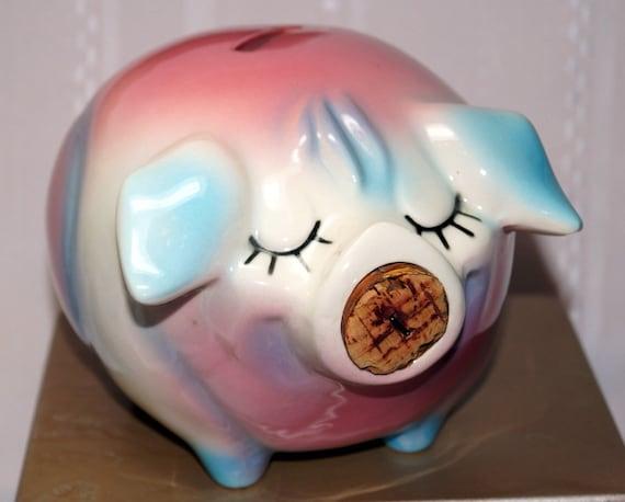 Corky Pig Vintage Hull Ceramic Piggy Bank 1950 S