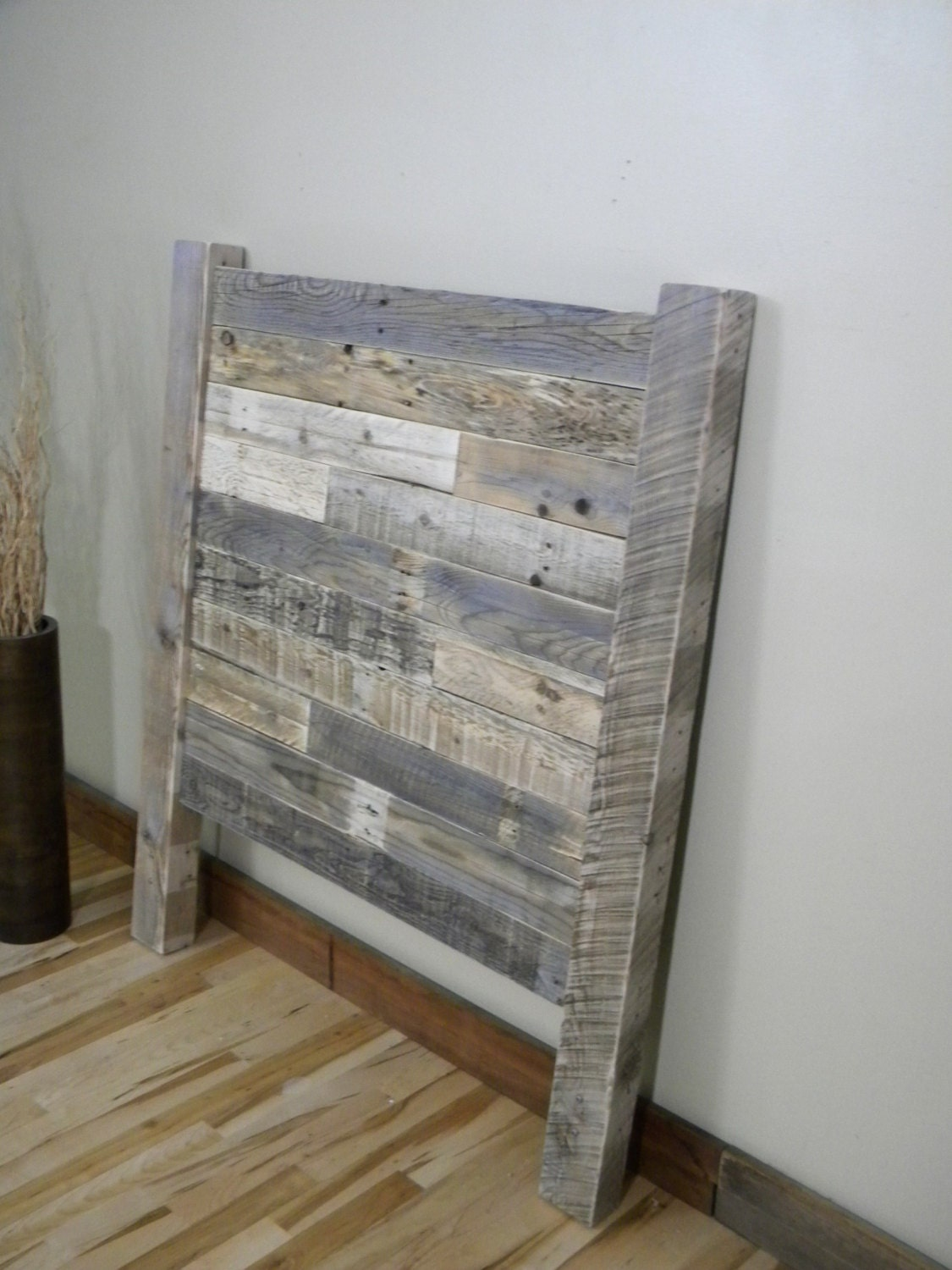 Wood Headboard Reclaimed Wood Twin Headboard by JNMRusticDesigns