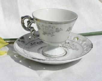 Cups and Saucers - Demitasse - Japan - Set of 4 - Vintage