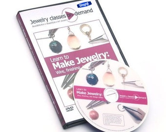 New DVD Learn To Make Jewelry Wire, Finishing & Design Basics By Linda Augsburg WA 780-001