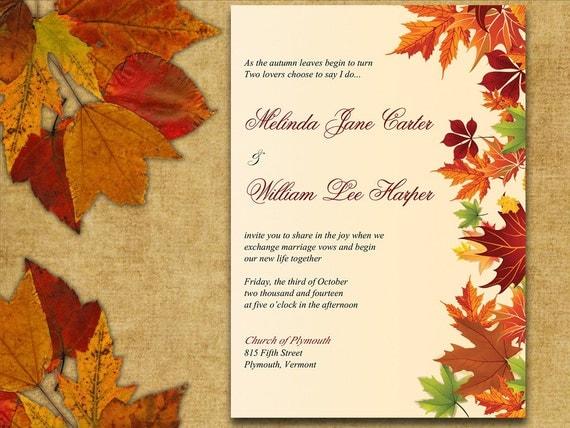 Fall Wedding Border