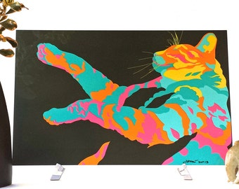 Scratch (Multi) Wall Art Metal 7x10 Original Digital / Computer Artwork Cat by John Berndt