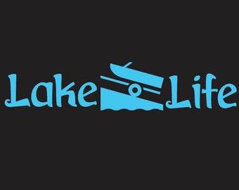 Lake Life decal for car, boat, jet ski, etc