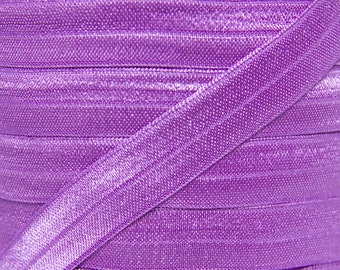 SALE!  WHOLESALE Grape Purple Fold Over Elastic - Elastic For Baby Headbands and Hair Ties - 100 Yard Roll of 5/8 inch FOE