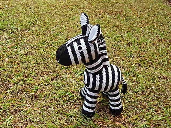 Amigurumi Crochet Pattern Zebra Pattern No.36 by PawPawsStudio