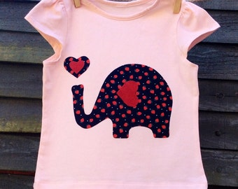Girls Pink Elephant T-Shirt